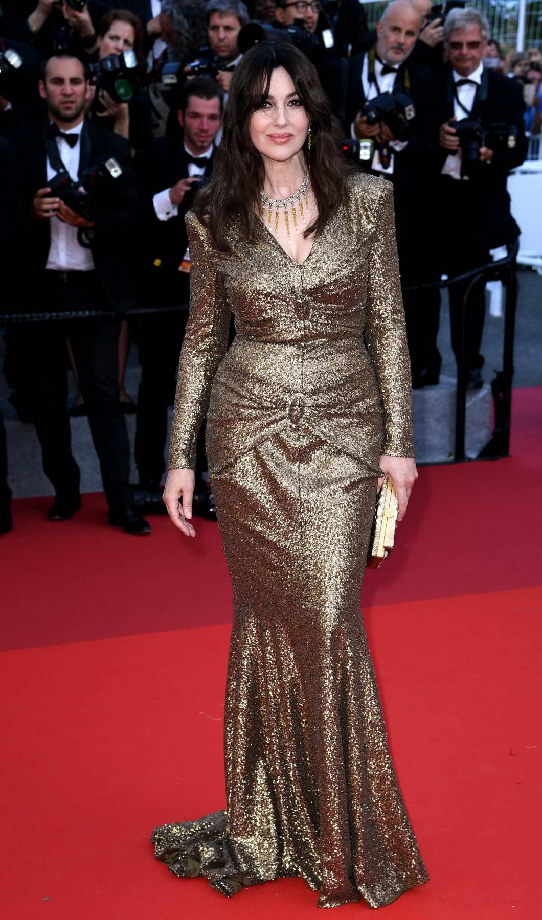 Monica Bellucci At Anniversary Soiree During The 70th Annual