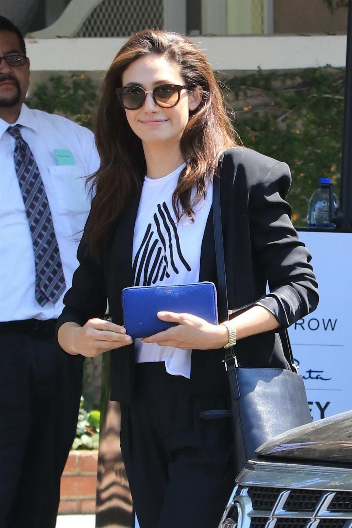 Emmy Rossum out Shopping with Friends in West Hollywood