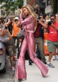 gigi hadid rocking all pink ensemble as she leaves her apartment in new york-270617