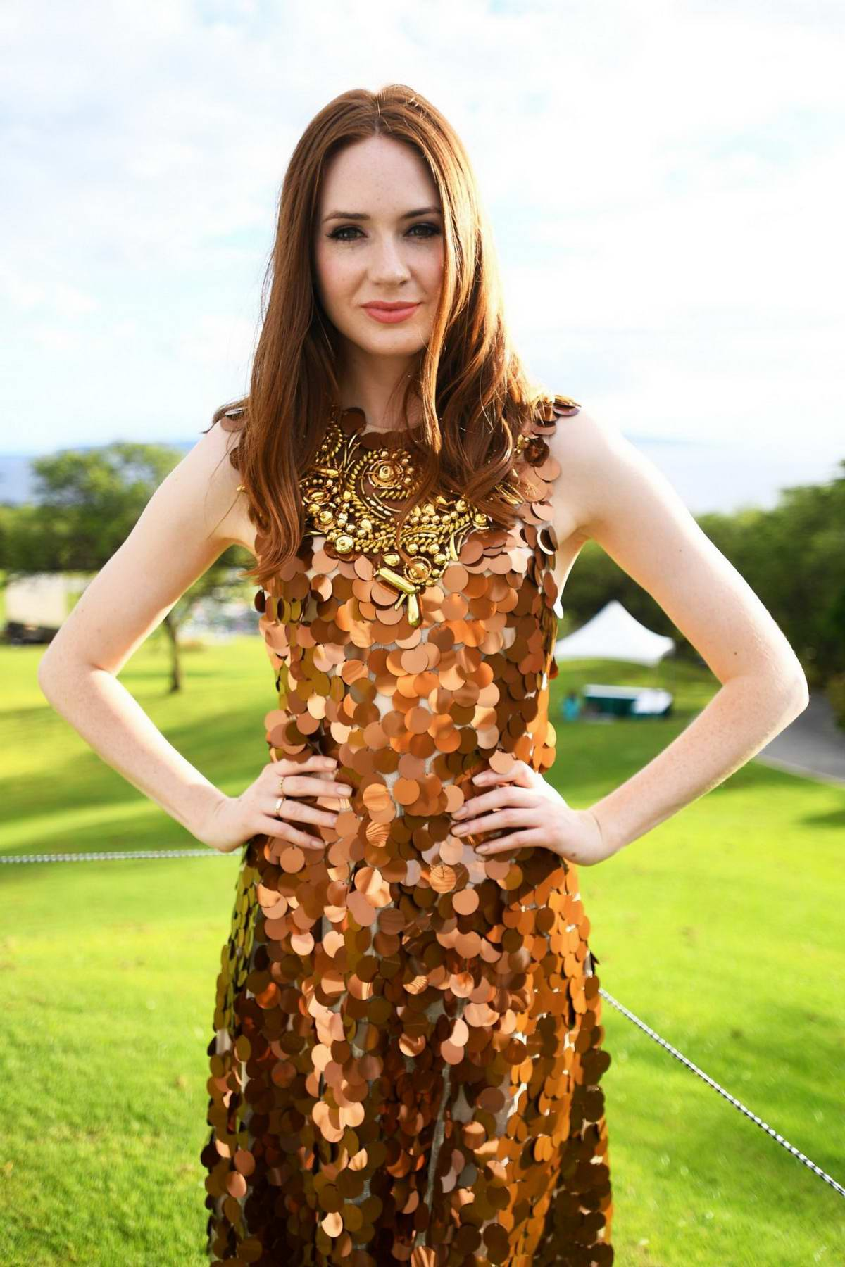 Karen Gillan receives The Rising Star Award at the Maui Film Festival