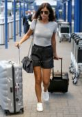 Lucy Mecklenburgh spotted leaving the London City Airport in London