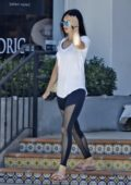 Megan Fox in T-Shirt and Leggings leaving her Yoga Session in Malibu