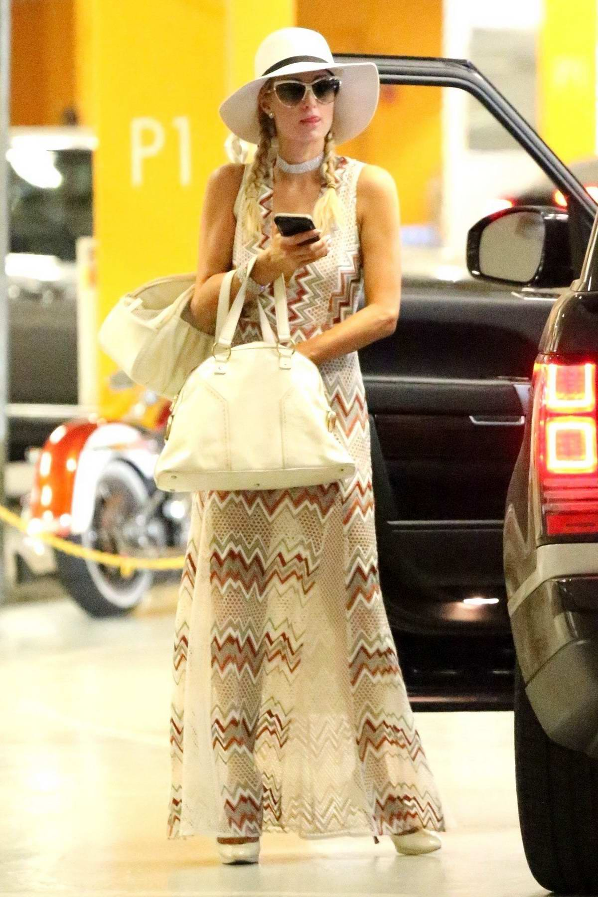 Paris Hilton attends a Business Meeting in Hollywood
