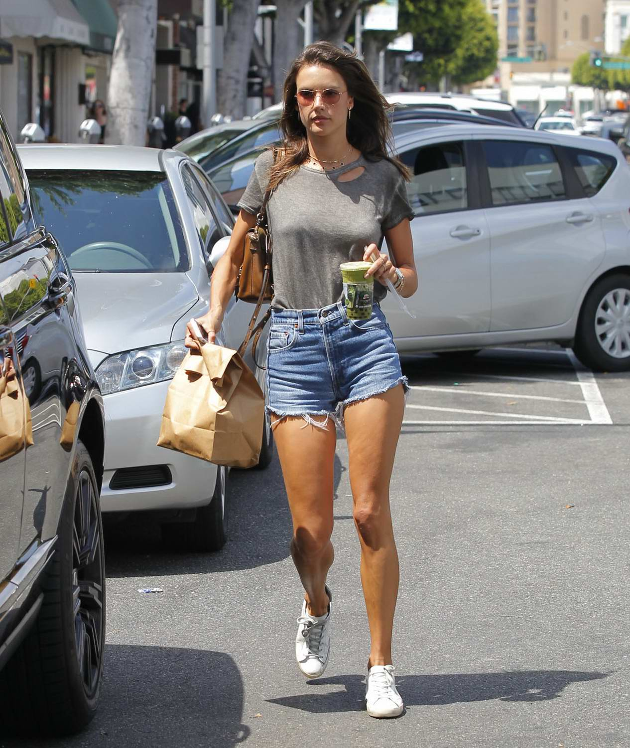 Alessandra Ambrosio leaving Earth Cafe in Beverly Hills