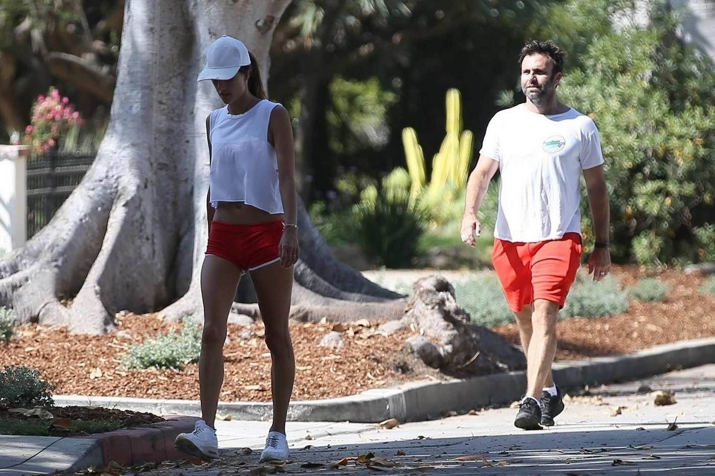 Alessandra Ambrosio out for a walk with her Husband in Brentwood, Los Angeles