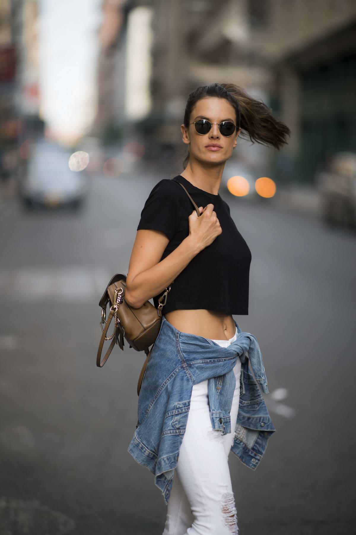 Alessandra Ambrosio spotted running errands in Manhattan, New York