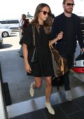 Alicia Vikander and Michael Fassbender arriving at the LAX Airport in Los Angeles