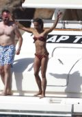 Alicia Vikander in a Bikini out for the afternoon on a Yacht with Michael Fassbender in Formentera, Spain