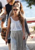 Alicia Vikander out with Friends in Ibiza, Spain