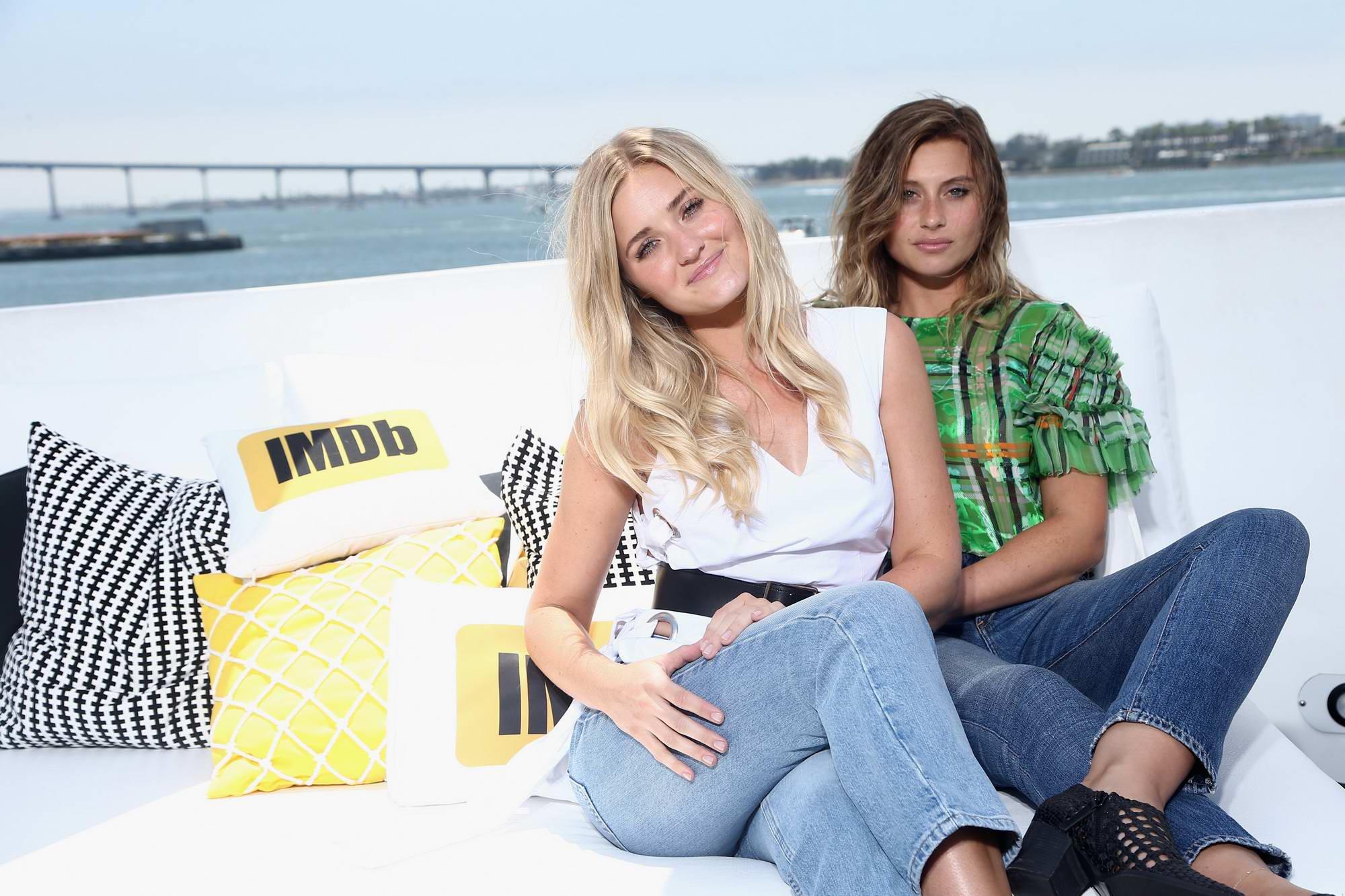 Aly and Amanda Michalka visits IMDBoat at Comic Con International 2017 in San Diego