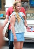 Amy Schumer on the set of 'I Feel Pretty' New York