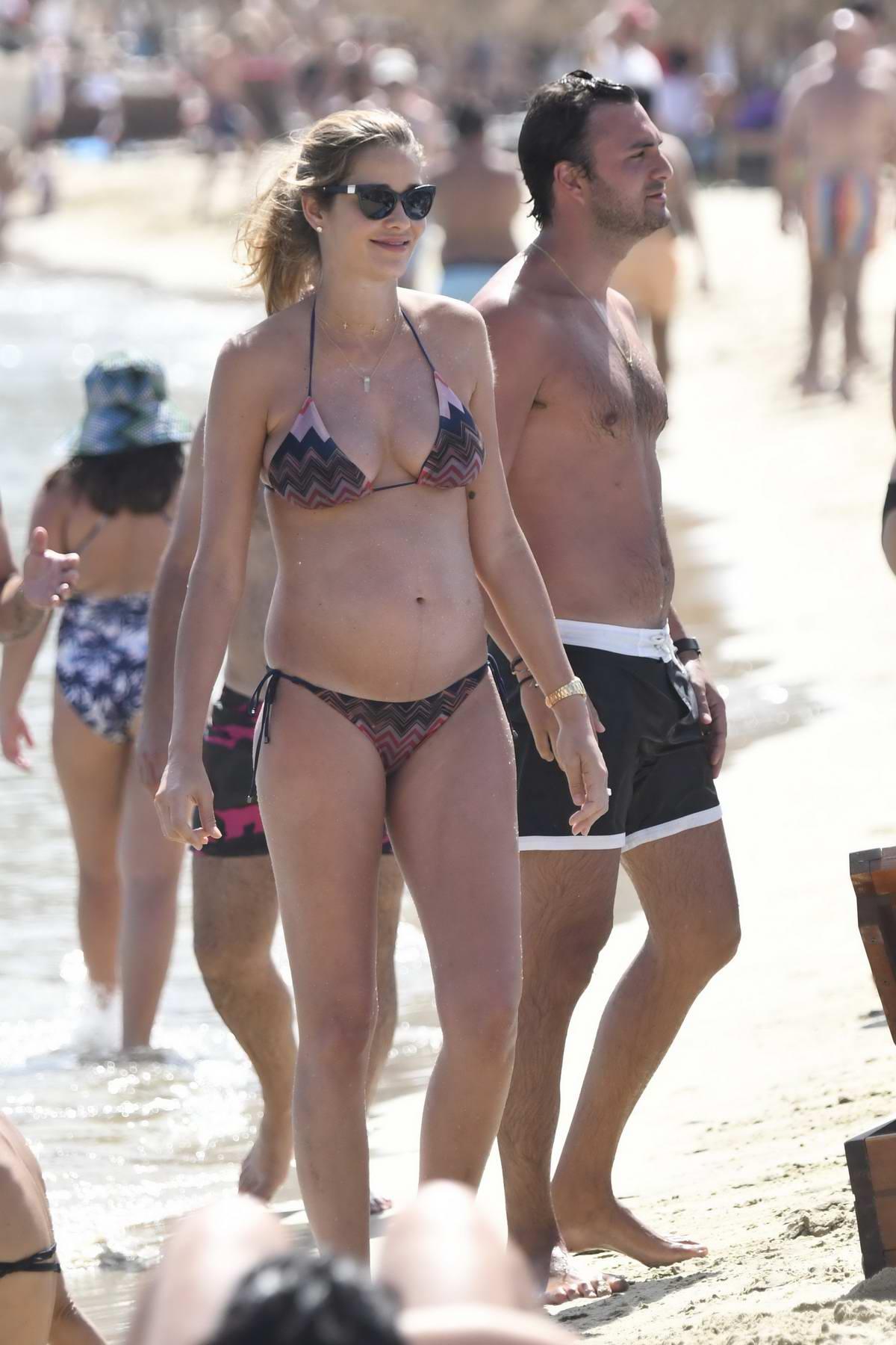Ana Beatriz Barros in Bikini enjoying holiday on the Beach in Mykonos, Greece