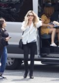 Annabelle Wallis and Isla Fisher arriving at the Set of 'Tag' in Atlanta