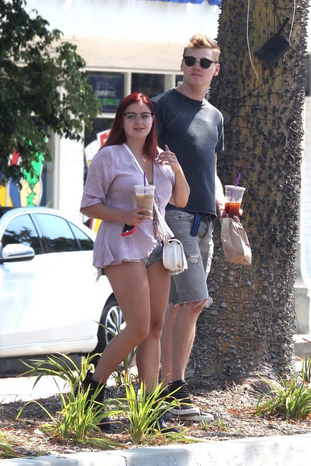 Ariel Winter in Shorts out with her Boyfriend in Studio City, Los Angeles