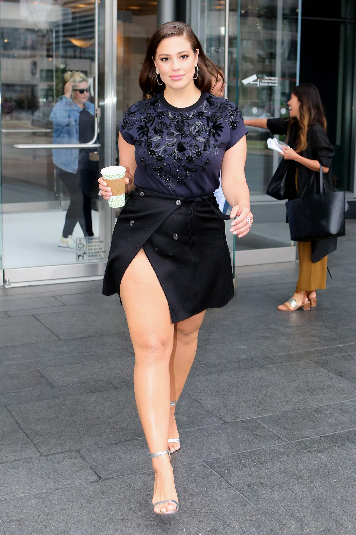Ashley Graham at the Corus Building while making an appearance on the Global Morning Show in Toronto, Canada