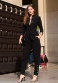 Barbara Palvin arriving at the Giorgio Armani Prive Haute Couture Fashion Week show in Paris, France