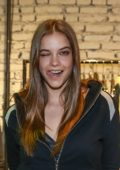 Barbara Palvin at the launch of Rosa Tea Collection in São Paulo, Brazil