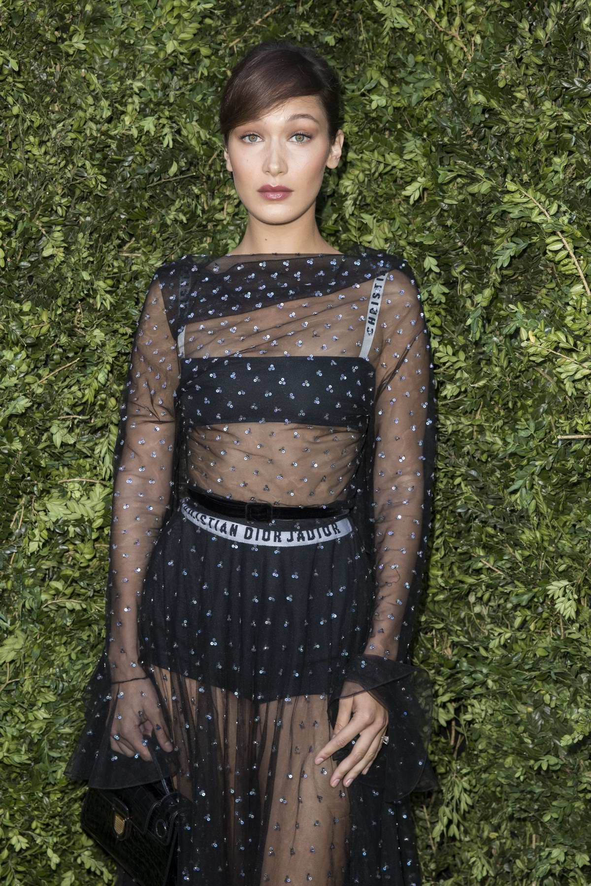 """Bella Hadid at Christian Dior """"Couturier du Reve"""" Exhibition Launch Celebrating 70 years of Creation in Paris, France"""