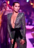 Bella Hadid on Runway for Alexandre Vauthier Fall/Winter 2017 Haute Couture Fashion Week in Paris, France