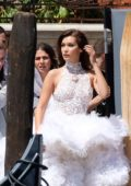 Bella Hadid on the Set of a Photoshoot in Venice, Italy