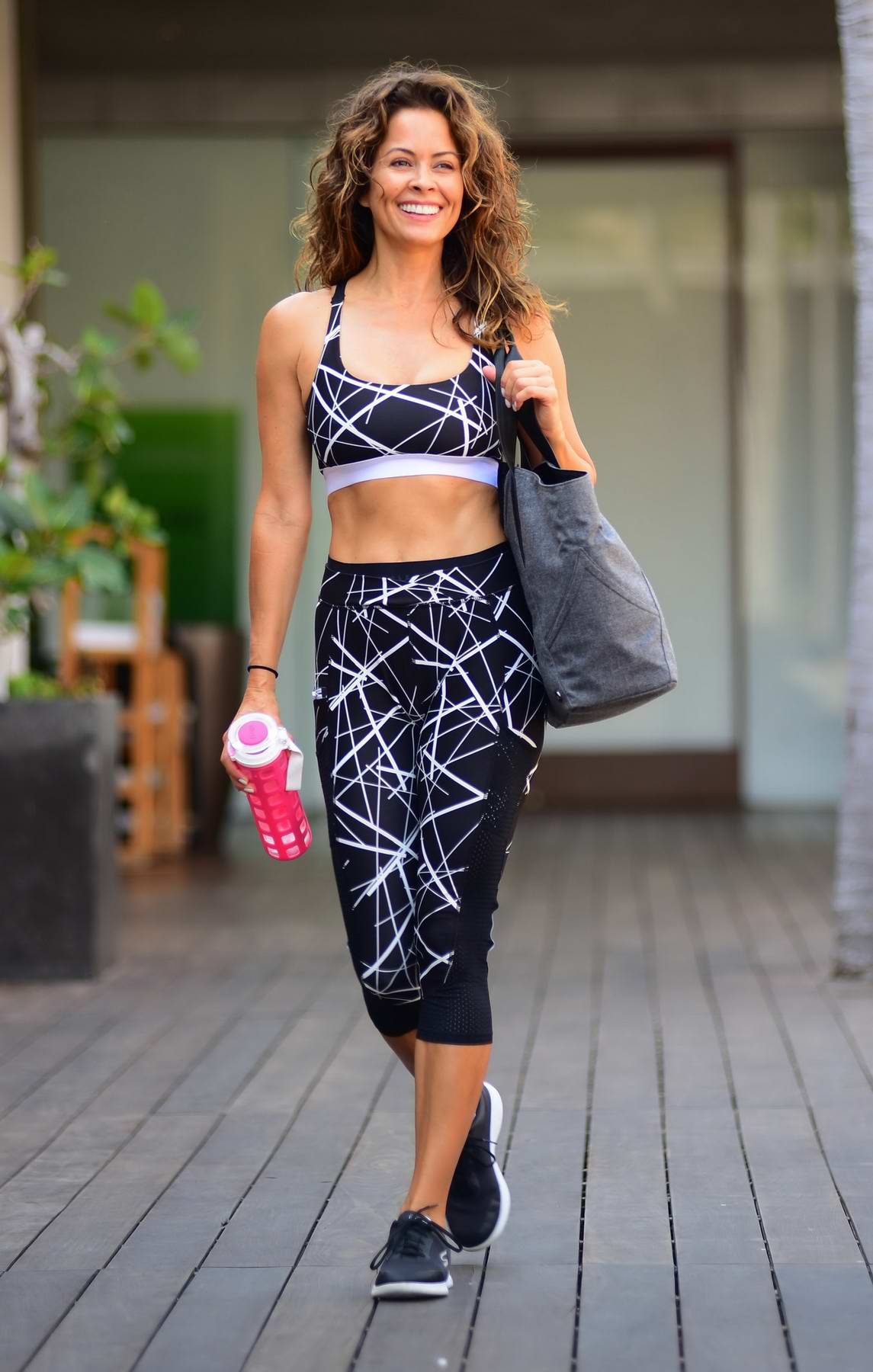 Brooke Burke leaves a Morning Workout in Malibu, CA