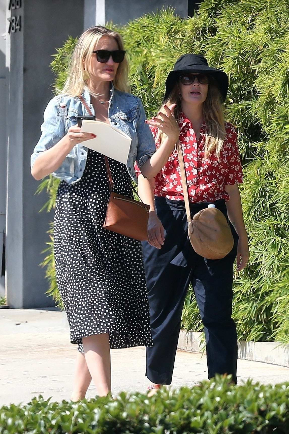 Cameron Diaz and Drew Barrymore out for Shopping at Melrose Place in Los Angeles