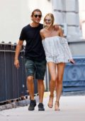 Candice Swanepoel and Hermann Nicoli out for Brunch in New York