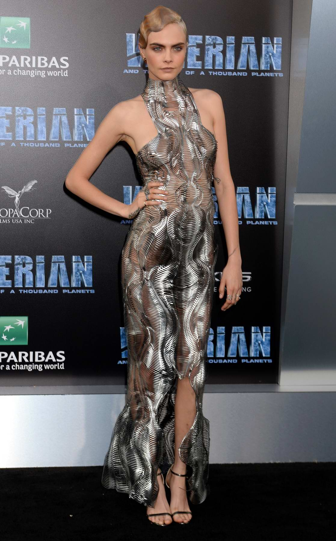 Cara Delevingne at the Valerian and the City of a Thousand Planets Premiere in Hollywood