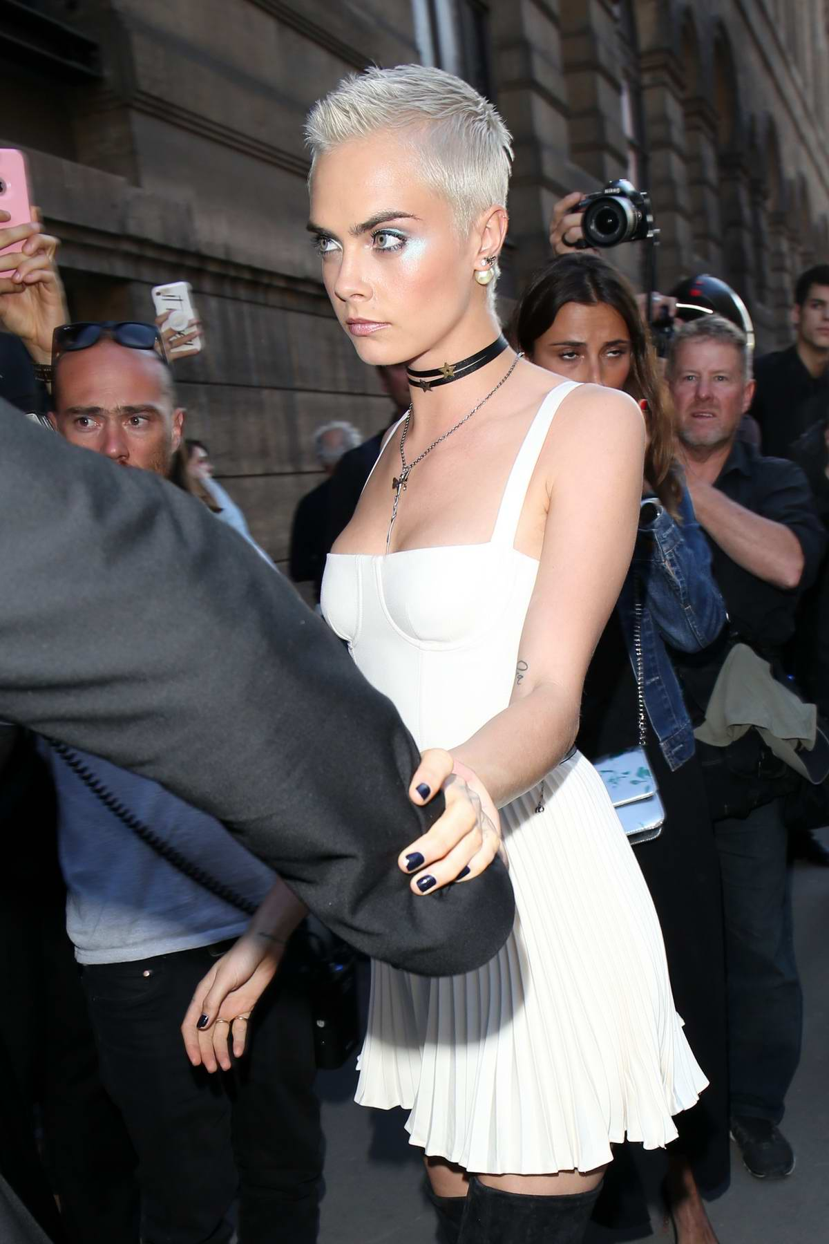 Cara Delevingne Out and About during Haute Couture Fashion Week in Paris, France