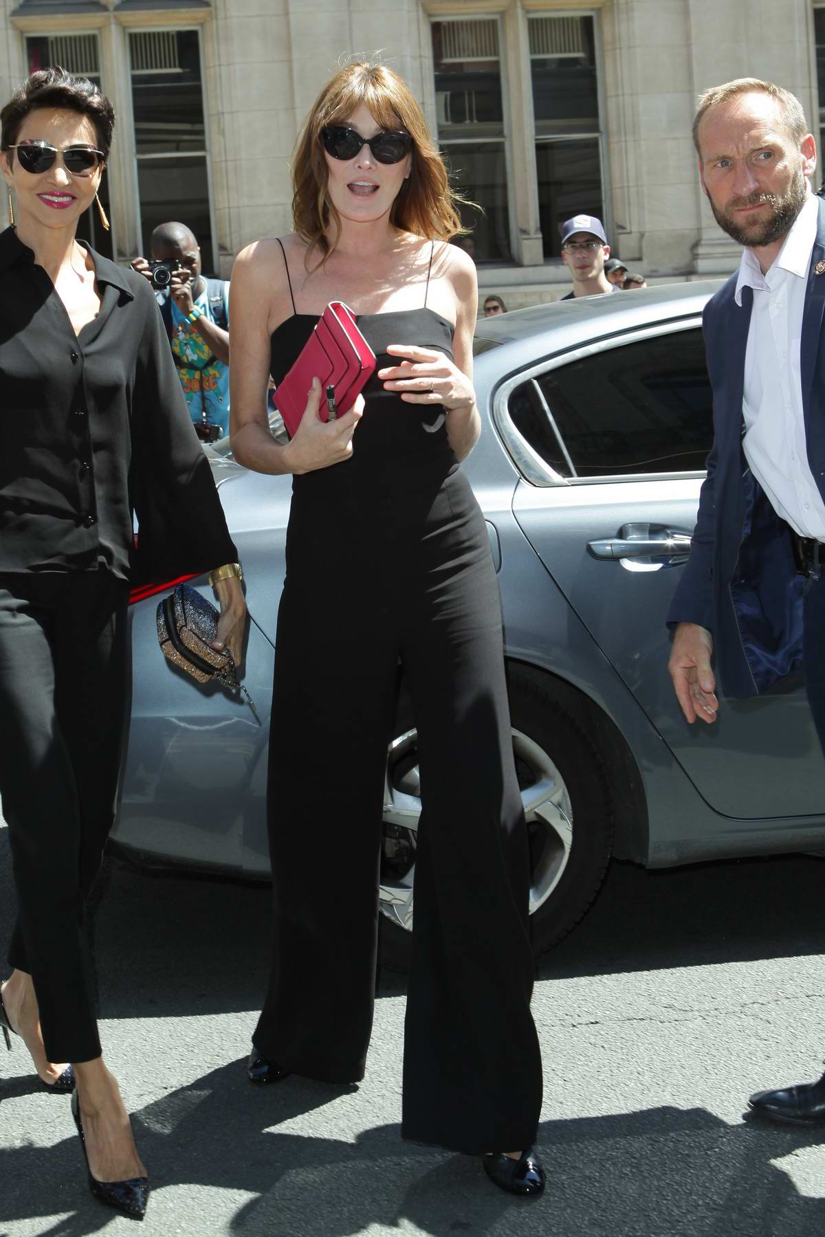 Carla Bruni attends the Valentino Prive Fashion Show as part of Haute Couture Paris Fashion Week in Paris, France