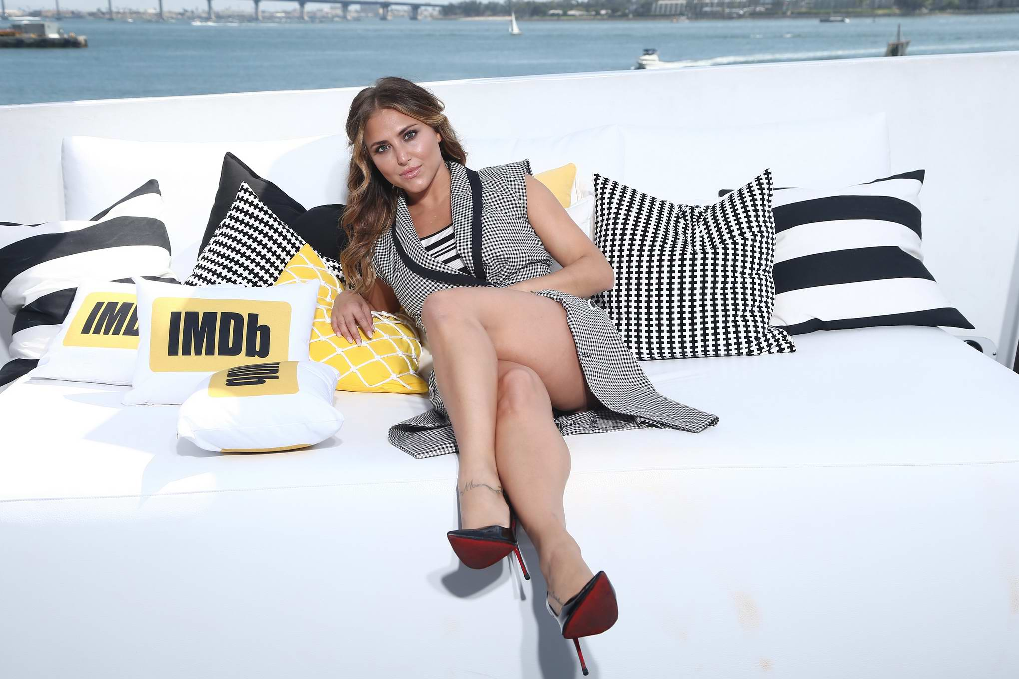 Cassie Scerbo at IMDBoat at Comic Con International 2017 in San Diego
