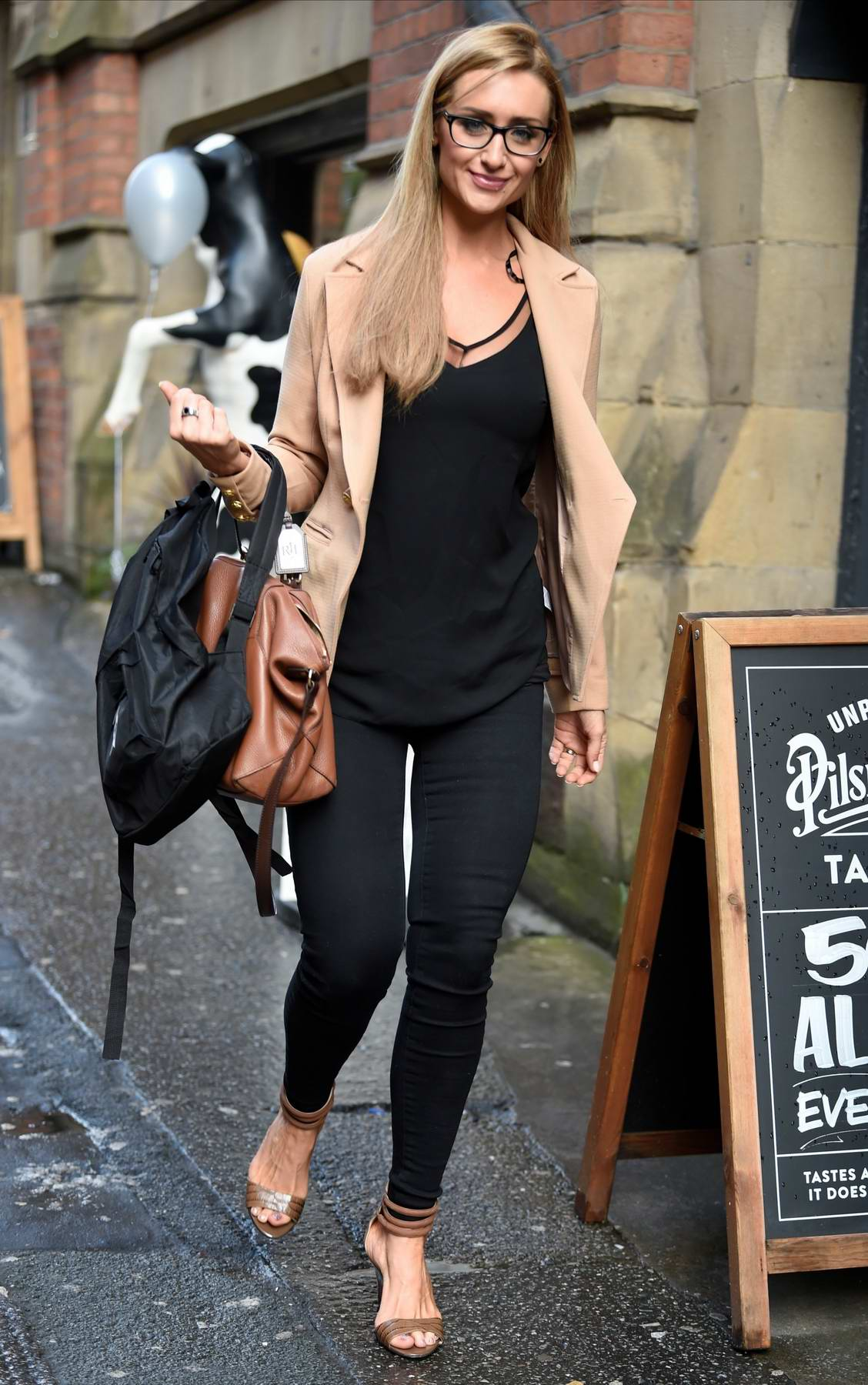 Catherine Tyldesley spotted at The Smokehouse Bar and Restaurant in Manchester, UK
