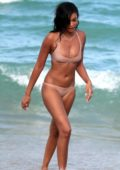Chanel Iman in Bikini enjoying a beach day with her Boyfriend Sterling Shepard in Miami