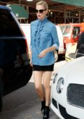 Charlize Theron arrives at her Hotel in New York