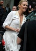 Charlize Theron arrives on Good Morning America show in New York
