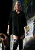 Charlize Theron at Entertainment Weekly's Women Who Kick Ass panel Comic Con International in San Diego