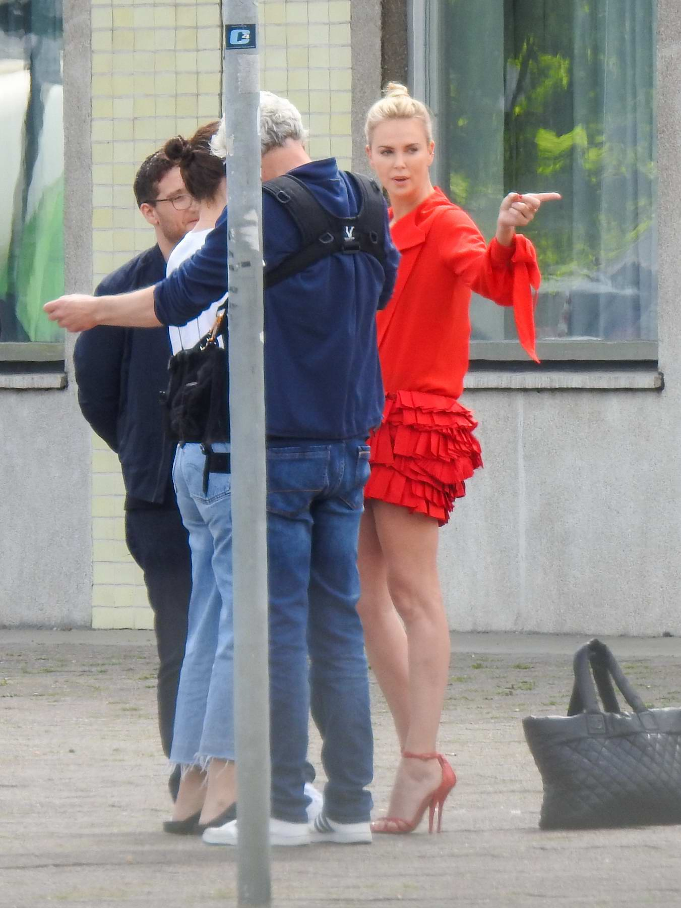 Charlize Theron Spotted In Berlin Mitte For Shoot In