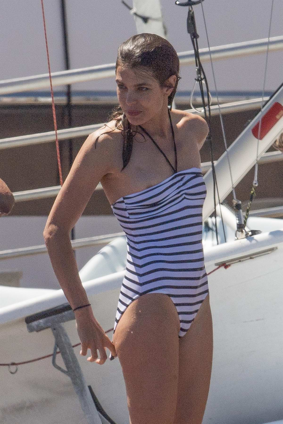 Charlotte Casiraghi in a Swimsuit at the Monaco Yacht Club, Monaco