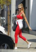 Charlotte McKinney dressed Sporty in All Red While Shopping in Beverly Hills