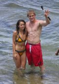 Chloe Bennet in a Bikini with Logan Paul in Hawaii