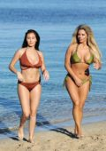 Chloe Goodman and Bianca Gascoigne in their Bikini enjoying a Girly Holiday in Cyprus