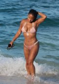 Christina Milian hits the Beach in a Bikini in Miami