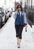 Daisy Lowe keeps it Casual as she walk her Dog out in London