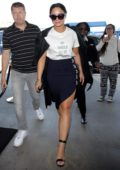 Demi Lovato arrives at the LAX Airport in Los Angeles