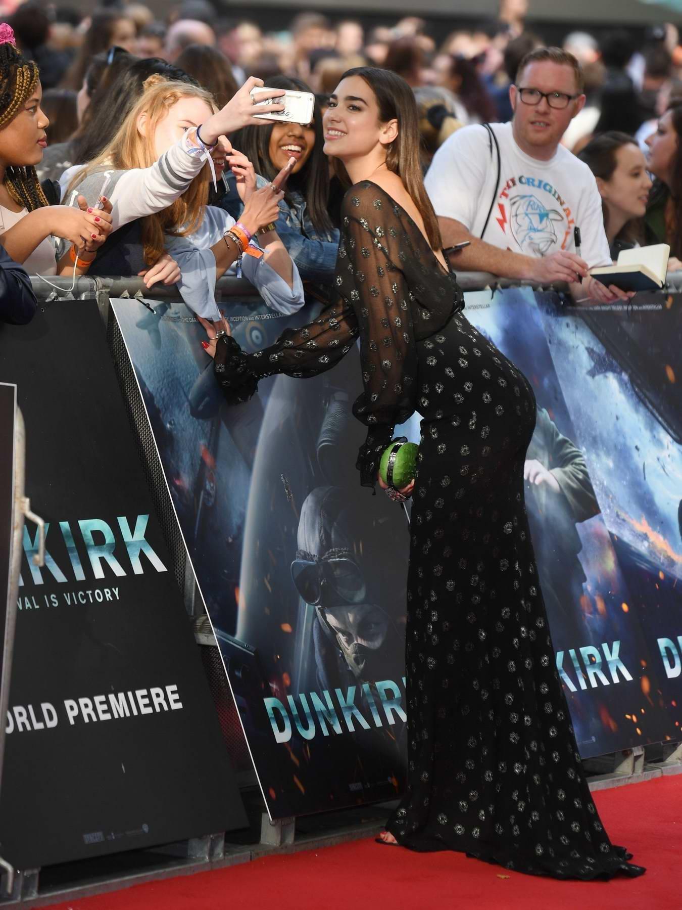 Dua Lipa at Dunkirk Premiere in London
