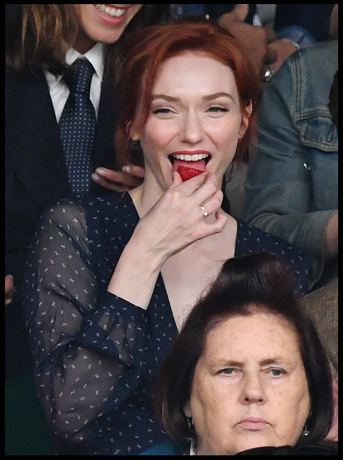 Eleanor Tomlinson and her Brother Ross Tomlinson at Women's Final at the Wimbledon 2017 in London