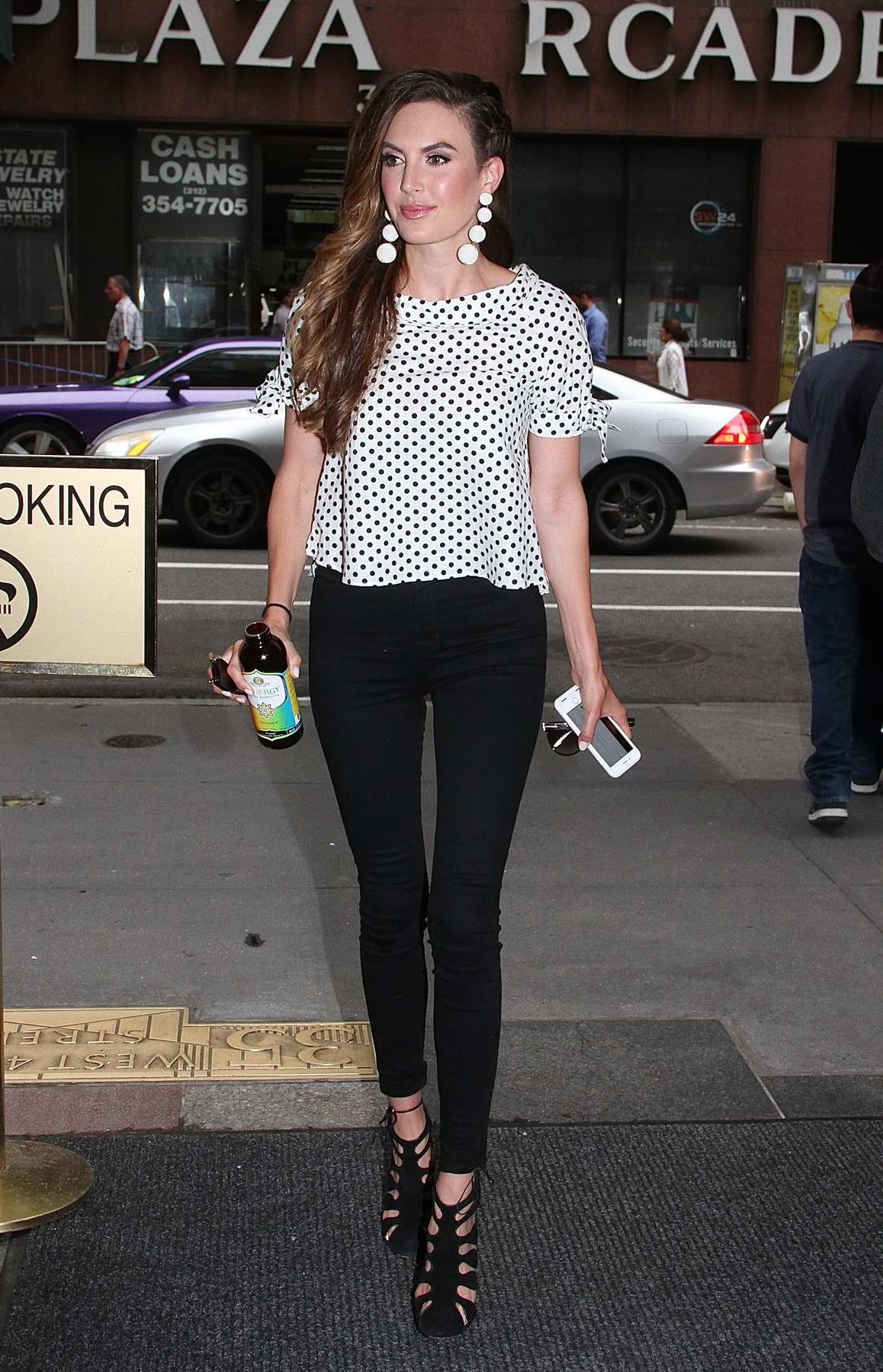 Elizabeth Chambers Hammer spotted arriving at the Today Show at Rockefeller Center in New York