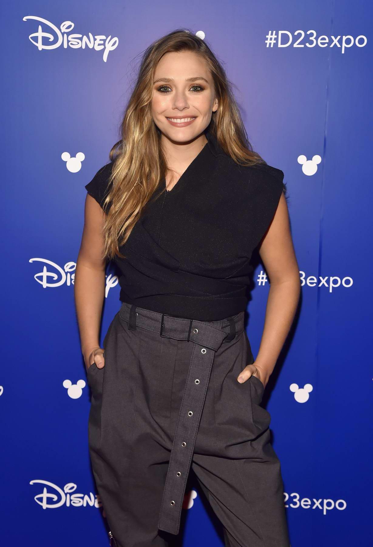 Elizabeth Olsen at Avengers: Infinity War Presentation at Disney's D23 EXPO 2017 in Anaheim, California