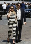Elizabeth Olsen and her Boyfriend Robbie Arnett spotted on the street looking for their Car in Paris, France