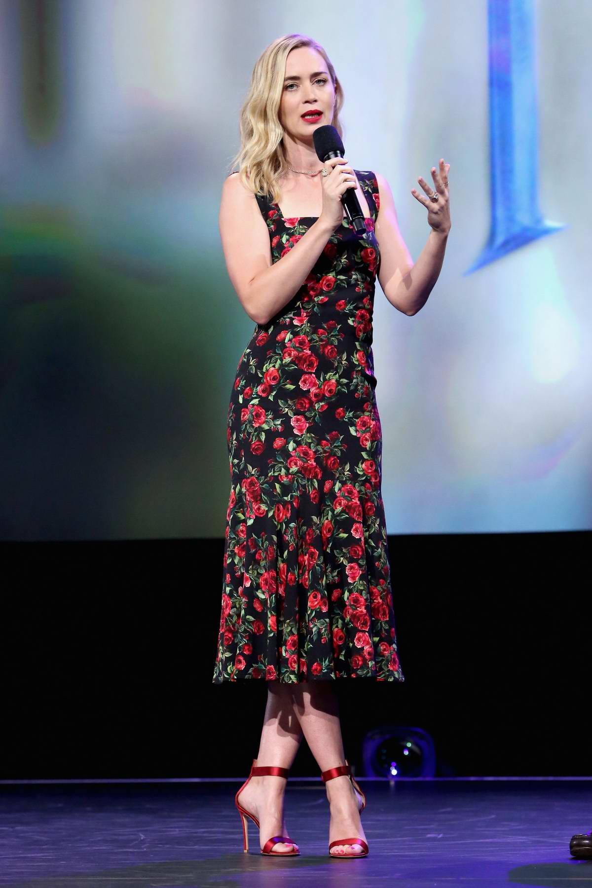 Emily Blunt at Mary Poppins Returns Presentation at Disney's D23 EXPO 2017 in Anaheim, California